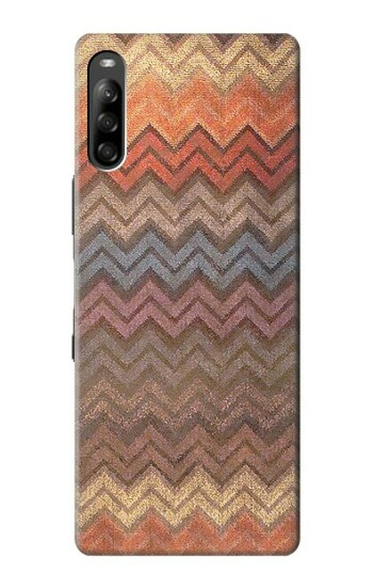 S3752 ジグザグ生地パターングラフィックプリント Zigzag Fabric Pattern Graphic Printed Sony Xperia L4 バックケース、フリップケース・カバー