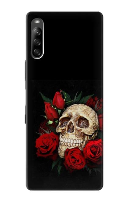 S3753 ダークゴシックゴススカルローズ Dark Gothic Goth Skull Roses Sony Xperia L4 バックケース、フリップケース・カバー