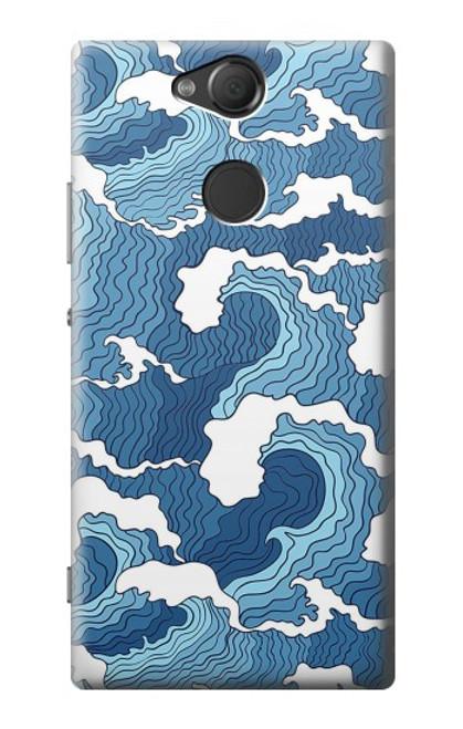 S3751 波のパターン Wave Pattern Sony Xperia XA2 バックケース、フリップケース・カバー