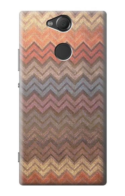 S3752 ジグザグ生地パターングラフィックプリント Zigzag Fabric Pattern Graphic Printed Sony Xperia XA2 バックケース、フリップケース・カバー