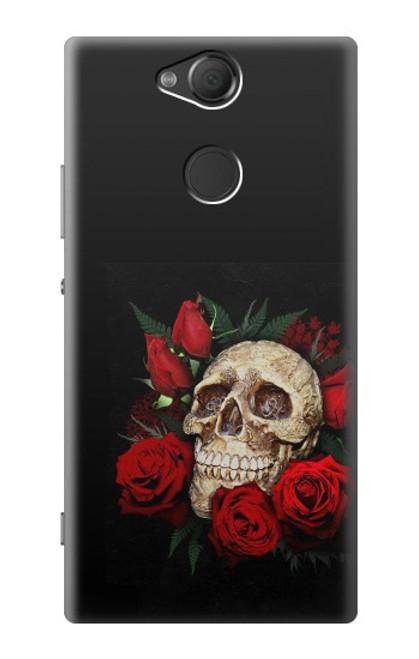 S3753 ダークゴシックゴススカルローズ Dark Gothic Goth Skull Roses Sony Xperia XA2 バックケース、フリップケース・カバー