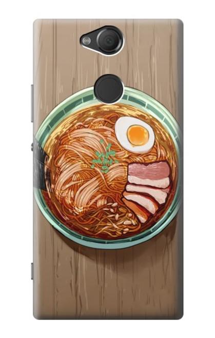 S3756 ラーメン Ramen Noodles Sony Xperia XA2 バックケース、フリップケース・カバー