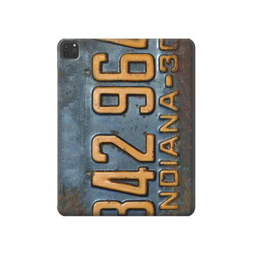 S3750 ヴィンテージ車のナンバープレート Vintage Vehicle Registration Plate iPad Pro 11 (2018,2020), iPad Air 4 (2020), iPad Air (2020) タブレットケース