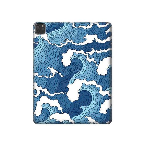 S3751 波のパターン Wave Pattern iPad Pro 11 (2018,2020), iPad Air 4 (2020), iPad Air (2020) タブレットケース