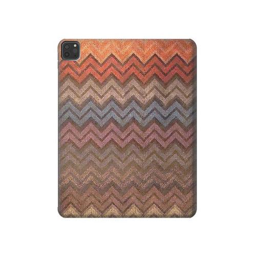 S3752 ジグザグ生地パターングラフィックプリント Zigzag Fabric Pattern Graphic Printed iPad Pro 11 (2018,2020), iPad Air 4 (2020), iPad Air (2020) タブレットケース