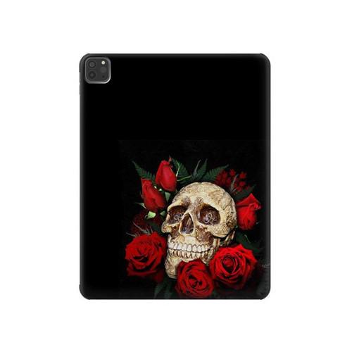 S3753 ダークゴシックゴススカルローズ Dark Gothic Goth Skull Roses iPad Pro 11 (2018,2020), iPad Air 4 (2020), iPad Air (2020) タブレットケース