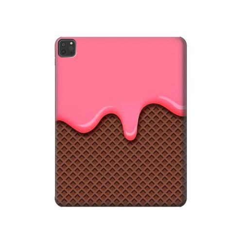 S3754 ストロベリーアイスクリームコーン Strawberry Ice Cream Cone iPad Pro 11 (2018,2020), iPad Air 4 (2020), iPad Air (2020) タブレットケース