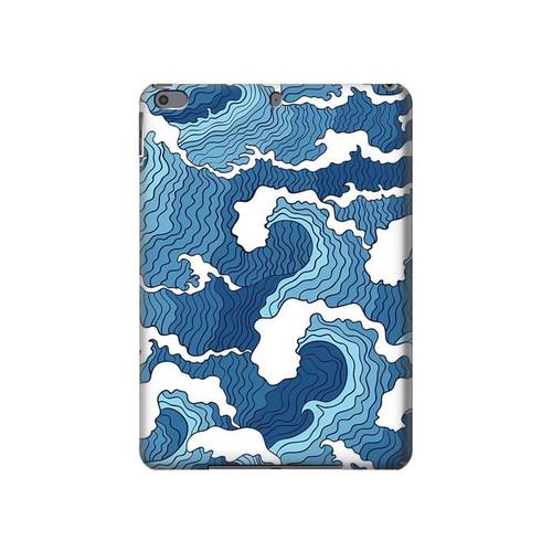 S3751 波のパターン Wave Pattern iPad Air 3, iPad Pro 10.5, iPad 10.2 (2019,2020) タブレットケース