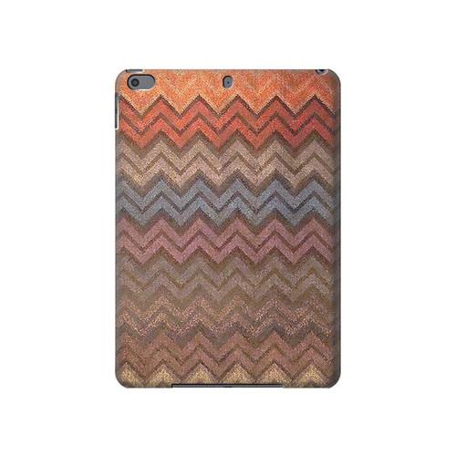 S3752 ジグザグ生地パターングラフィックプリント Zigzag Fabric Pattern Graphic Printed iPad Air 3, iPad Pro 10.5, iPad 10.2 (2019,2020) タブレットケース