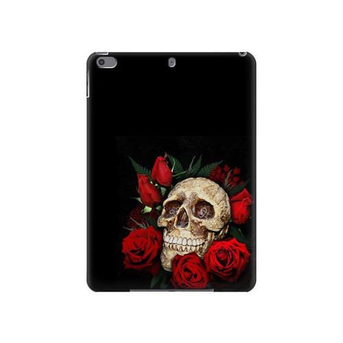 S3753 ダークゴシックゴススカルローズ Dark Gothic Goth Skull Roses iPad Air 3, iPad Pro 10.5, iPad 10.2 (2019,2020) タブレットケース