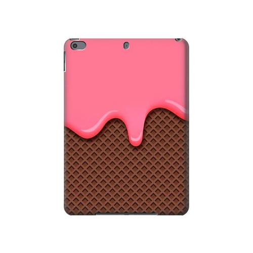 S3754 ストロベリーアイスクリームコーン Strawberry Ice Cream Cone iPad Air 3, iPad Pro 10.5, iPad 10.2 (2019,2020) タブレットケース