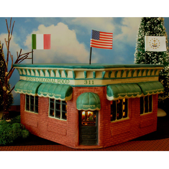 Tonys Colonial Food Porcelain Village Building