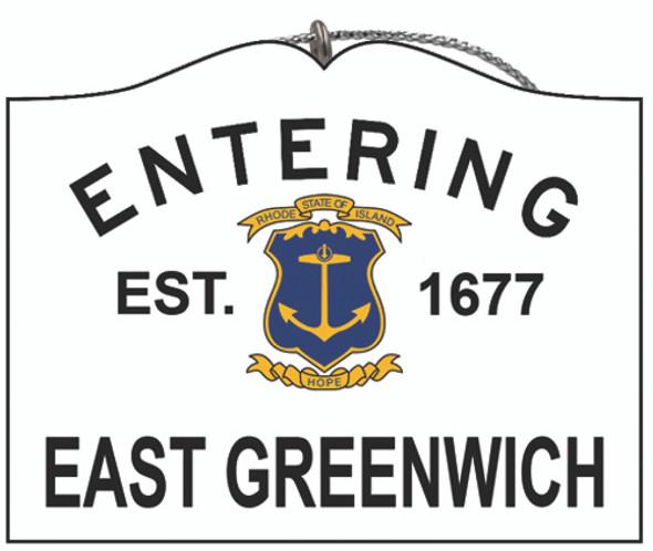 Entering East Greenwich