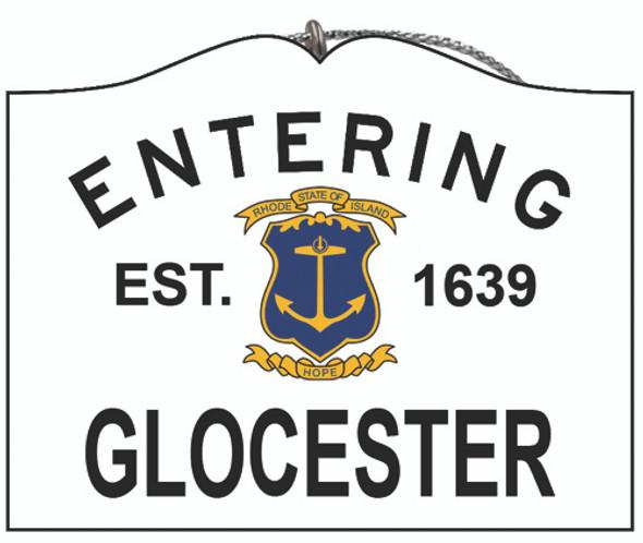 Entering Glocester