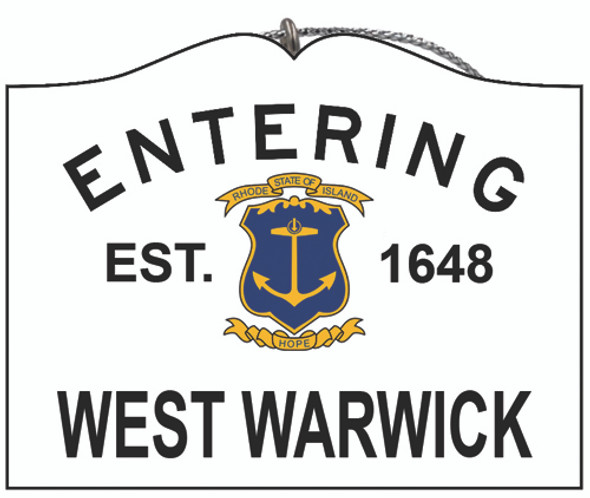Entering West Warwick