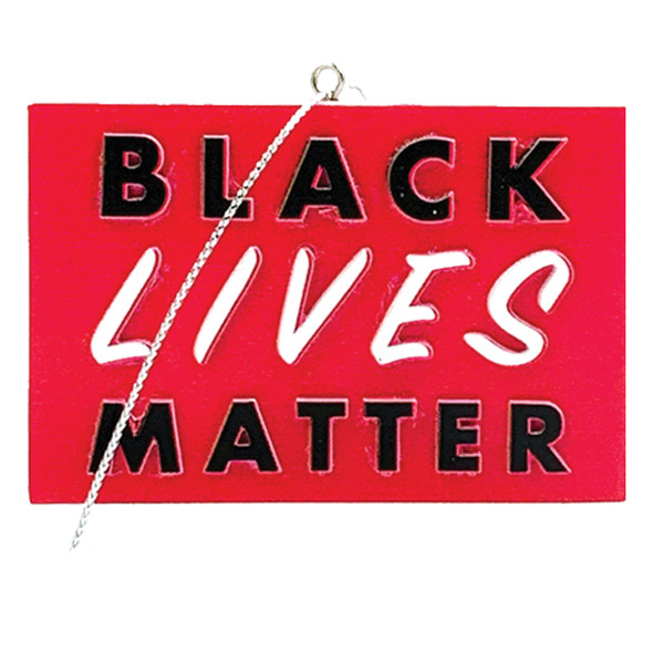 Black Lives Matter ornament