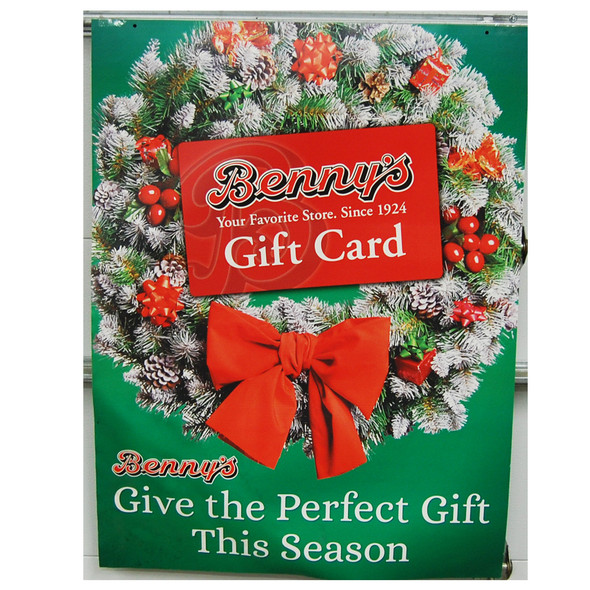 "Benny's Gift Card poster 30"" x40"""