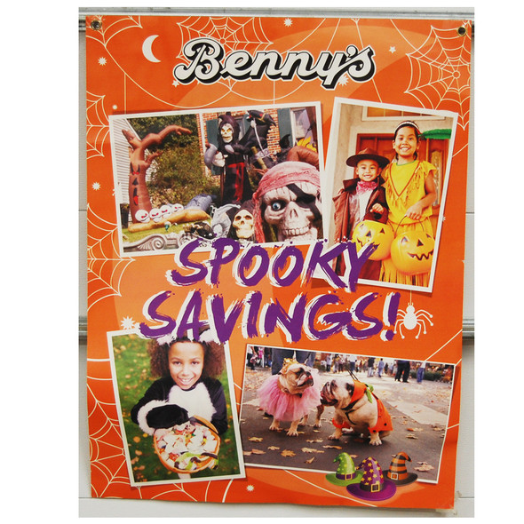 "Benny's spooky Savings 30""x40"""