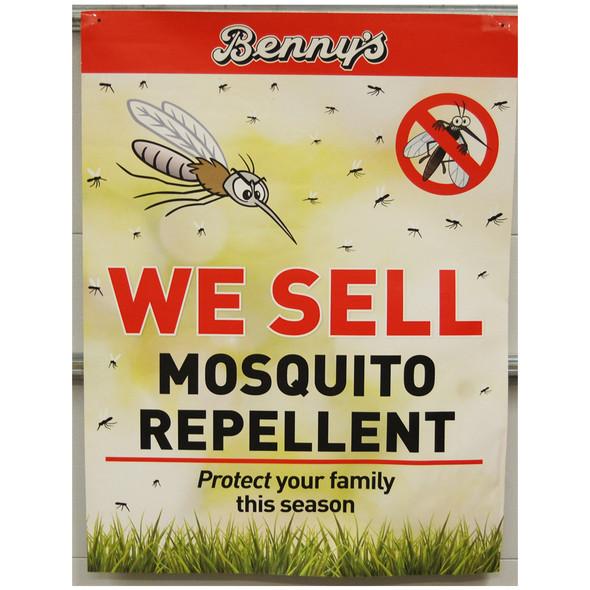 """Benny's Mosquito Repellent 30"""" x 40"""""""