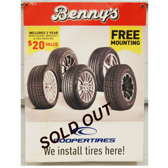 "Benny's Free Mounting Tires 30""x40"""