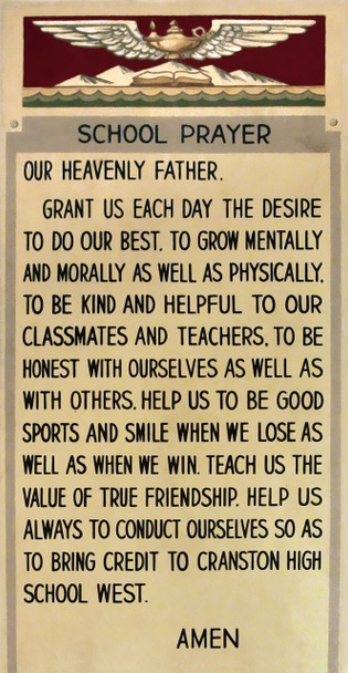 Cranston West Prayer