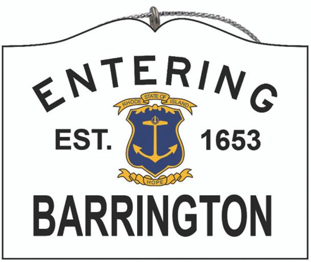 Entering Barrington