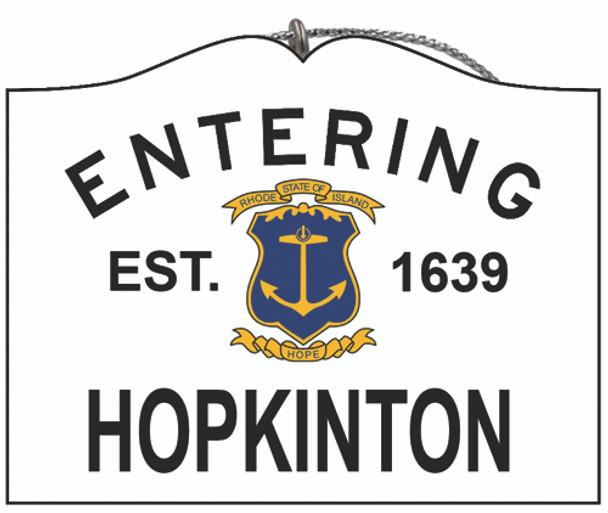 Entering Hopkinton