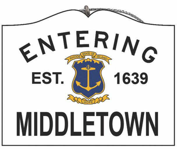Entering Middletown