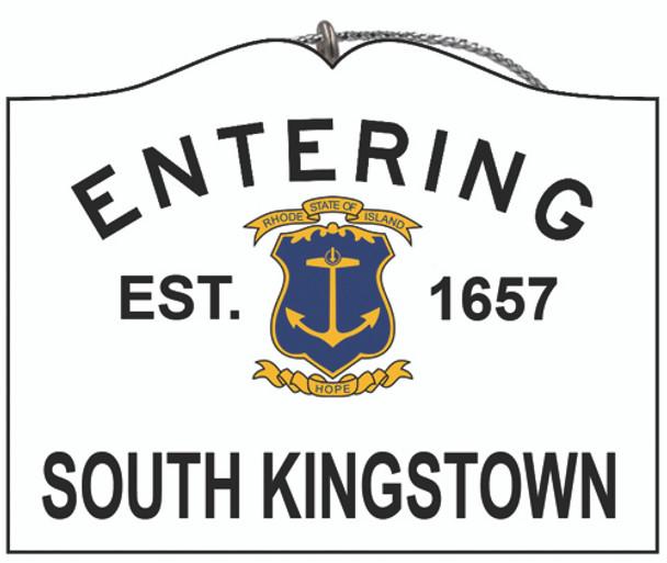 Entering South Kingstown