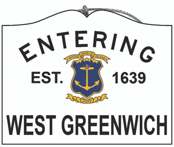 Entering West Greenwich