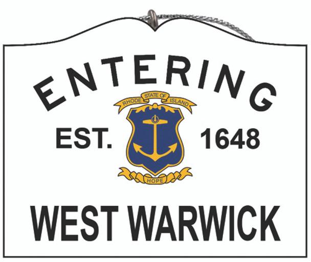 Entering West Warwick