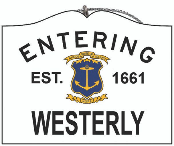 Entering Westerly