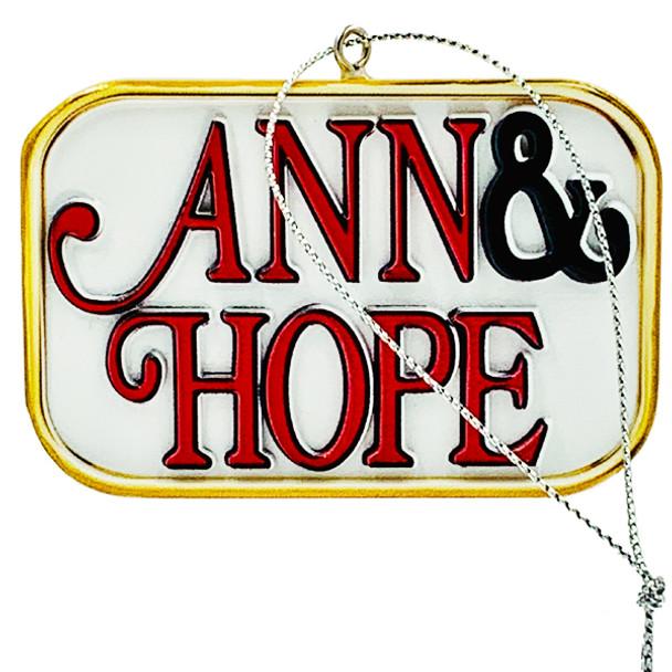 Ann & Hope ornament