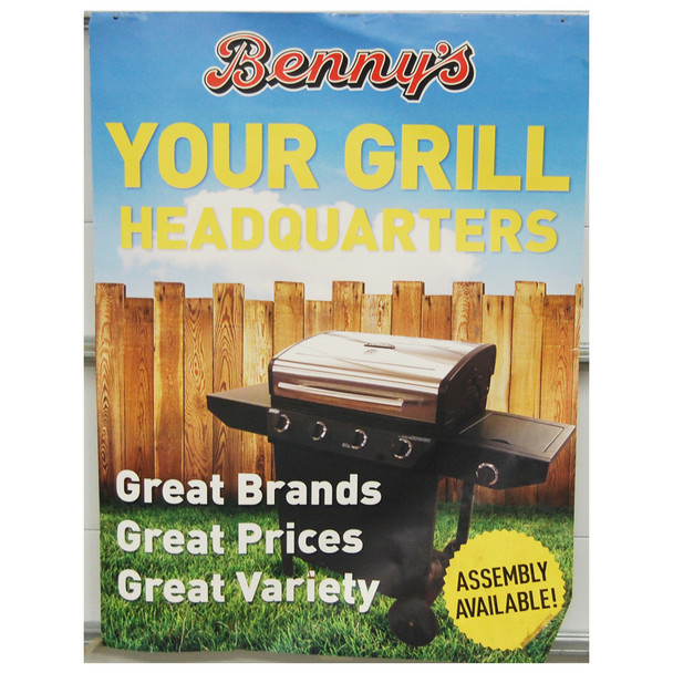 "Benny's Grill Headquarters 30"" x 40"""