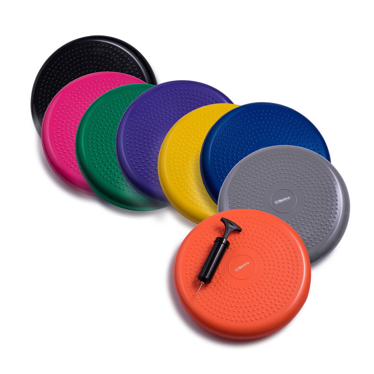 Standard Balance Disc Wiggle Cushion 33cm 13 Inch Diameter Bintiva