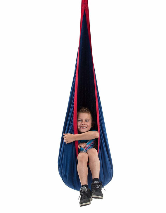 Children's Pod Swing - Indoor Sensory Swing Includes All Hardware for Hanging