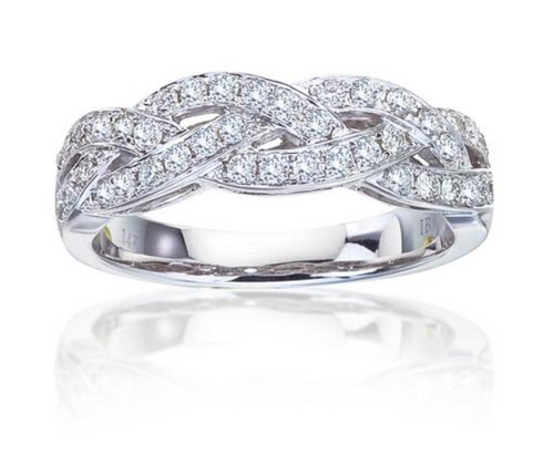 1/2 Ct. Weaved diamond band