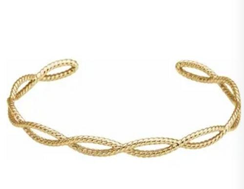 "14kyg 5.8mm infinity rope cuff bracelet 7"""