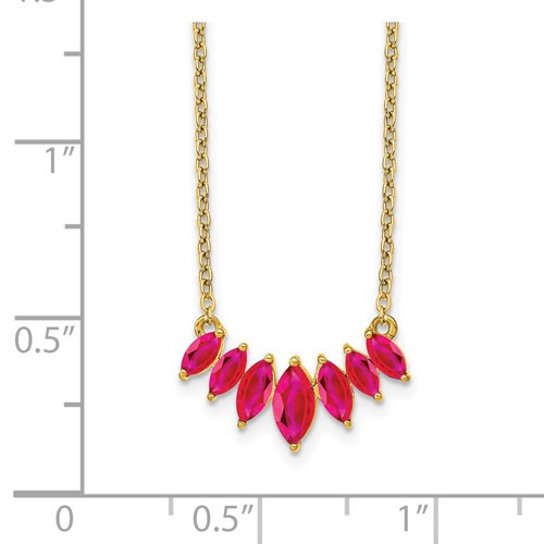 """14kyg (7)graduated ruby necklace 18"""""""