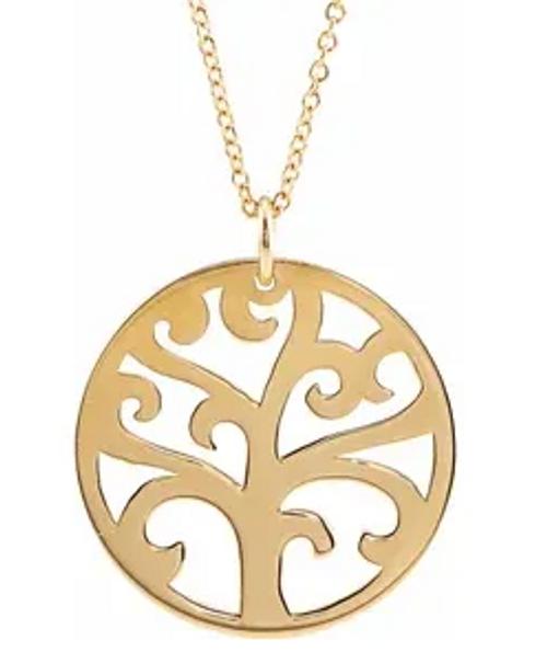 "14kyg tree of life pendant 16-18"" chain"