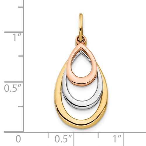 14kg three color teardrop pendant