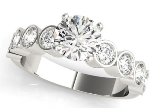 14 Karat White Gold 3/4 Ct. Diamond Semi-mount