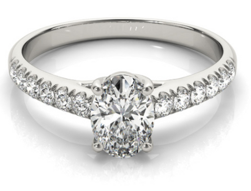 14 K  1/4 CTW diamond semi-mount engagement ring