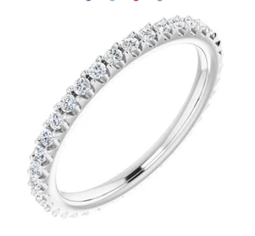 14kwg 3/8cttw diamond eternity band size 7
