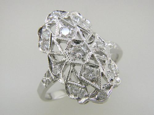 Custom design diamond filigree ring
