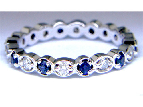 Custom design sapphire/diamond eternity band
