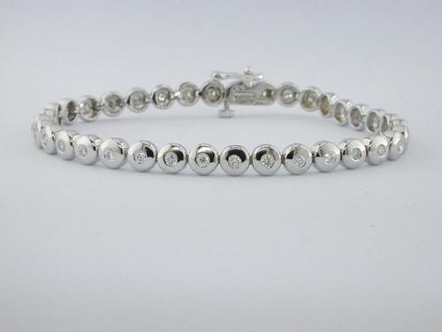 Custom design bezel set diamond bracelet
