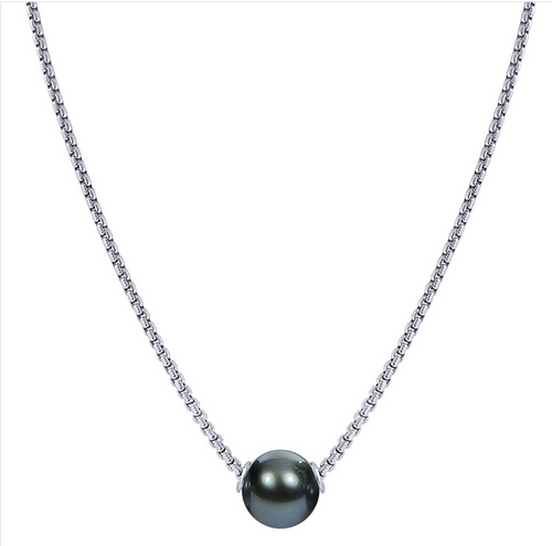 Solitaire Tahitian pearl necklace