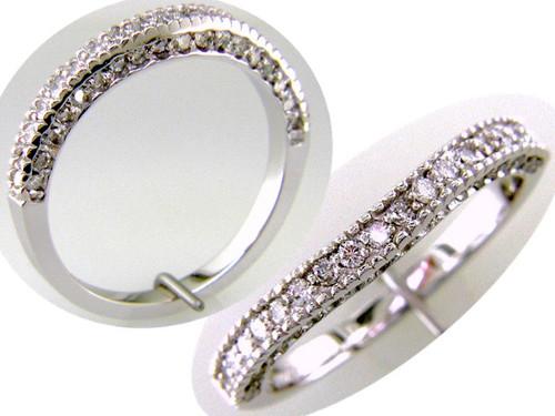 Custom design diamond curved band