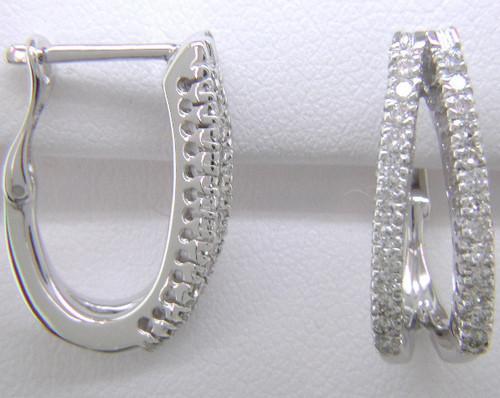 Custom design diamond split hoop earrings